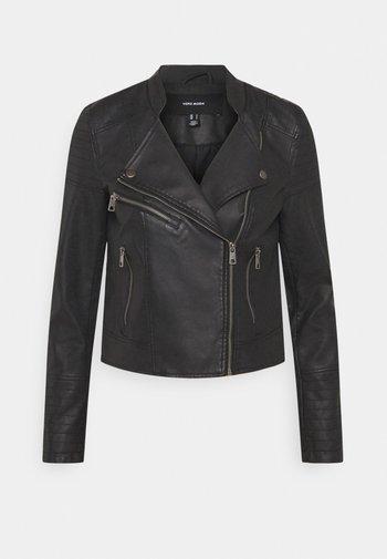 VMBEATE  - Faux leather jacket - black