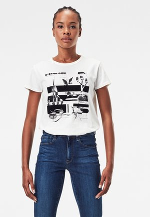 LOGO THISTLE ROUND NECK SHORT SLEEVE - Print T-shirt - milk