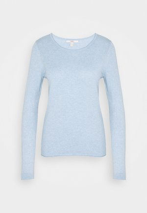 BASIC - Strikkegenser - light blue