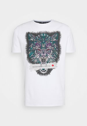 SAVAGE WOLF TEE - Print T-shirt - white
