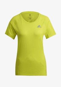 adidas Performance - ADI RUNNER PRIMEGREEN RUNNING - T-shirts - yellow - 4