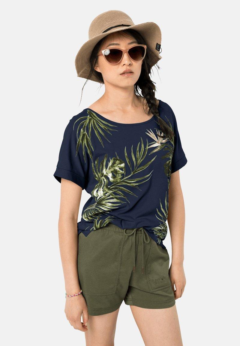 Jack Wolfskin - Print T-shirt - midnight blue