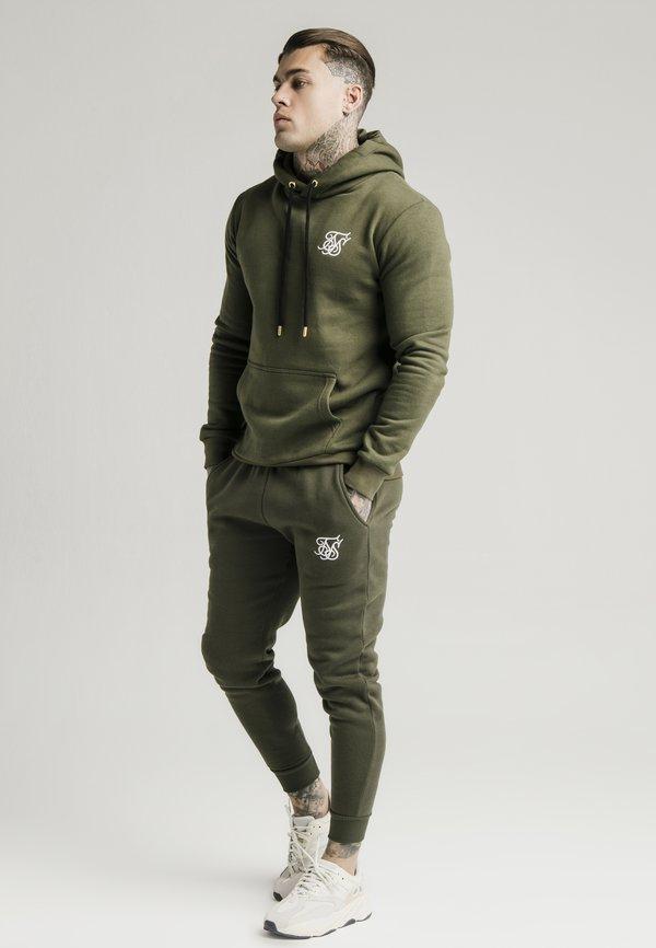 SIKSILK MUSCLE FIT - Spodnie treningowe - khaki/white/khaki Odzież Męska BUKW