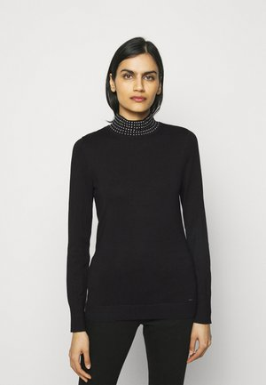 NAILHEAD TURTLENECK  - Jumper - black