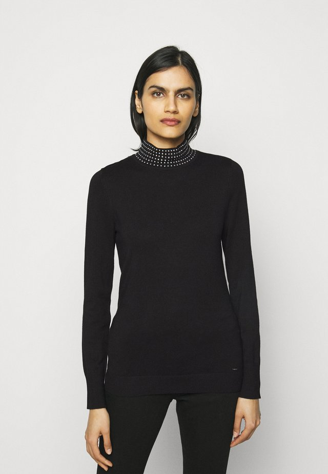 NAILHEAD TURTLENECK  - Maglione - black