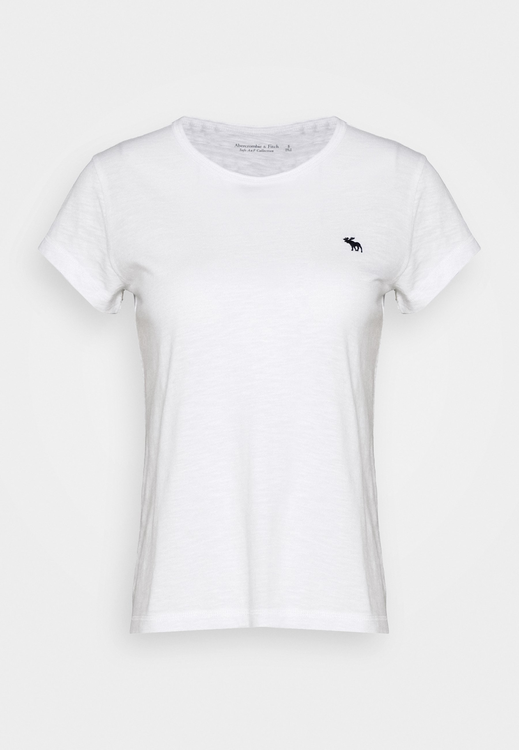 Abercrombie & Fitch Icon Crew Tee - T-shirts White/hvit