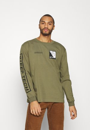 STEEP TECH TEE UNISEX - Long sleeved top - burnt olive green