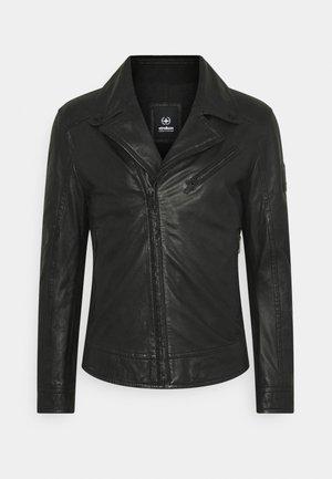 PARKS - Leather jacket - black