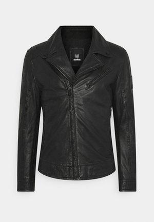 PARKS - Kožená bunda - black