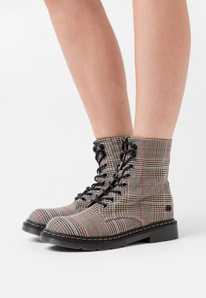 Lace-up ankle boots - braun/schwarz