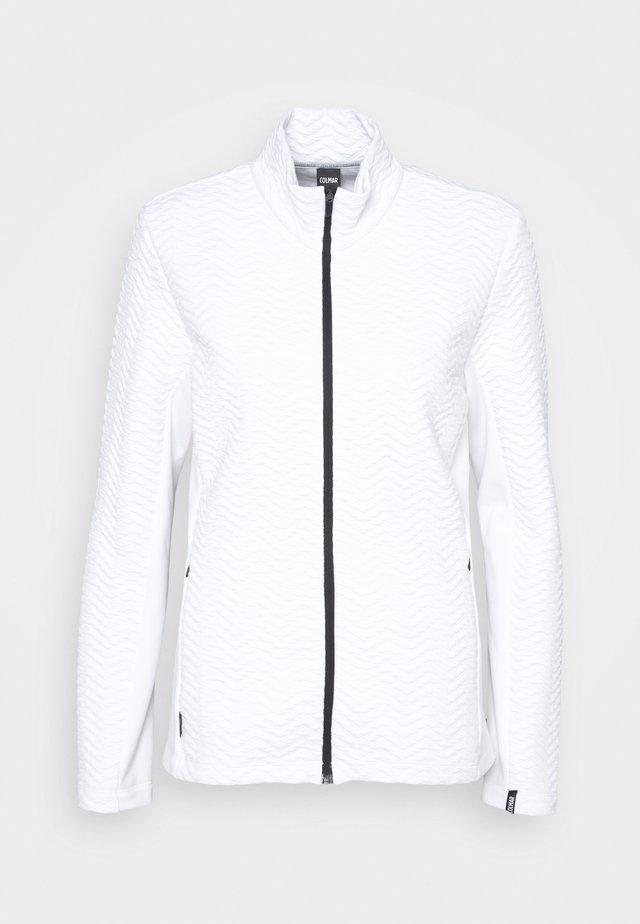 LADIES - Fleecová bunda - white