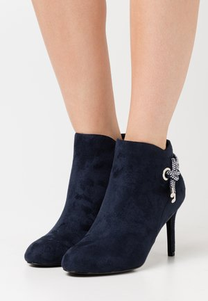 ARIEL - High heeled ankle boots - navy