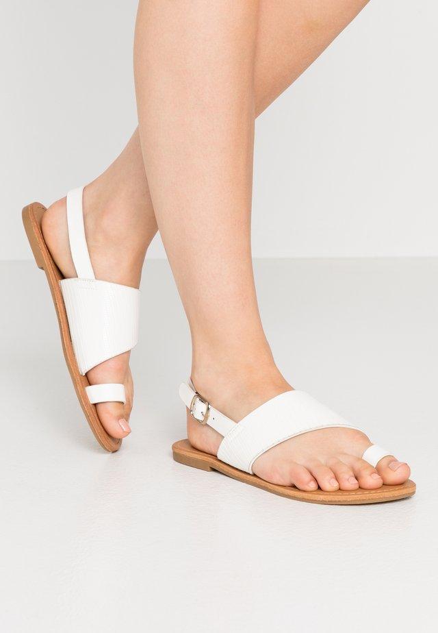 SEPHORINA - Sandalias de dedo - white
