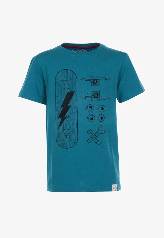 SKATE PARTS - T-shirt med print - petrol