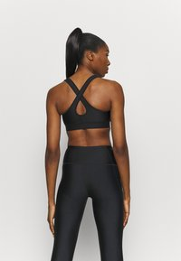 Under Armour - MID CROSSBACK BRA - Brassières de sport à maintien normal - black - 2