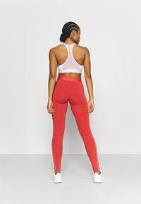 adidas Performance - Leggings - crew red/hazy rose - 2