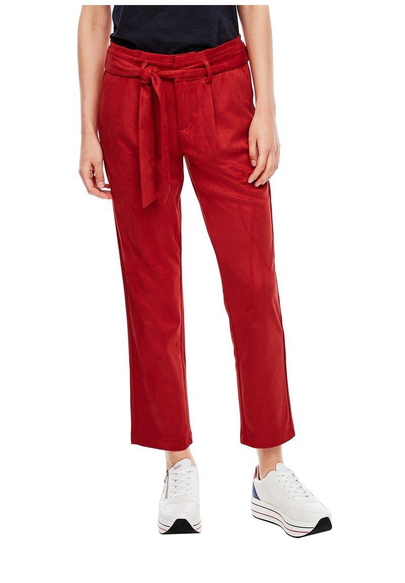 s.Oliver - Pantalon classique - dark red