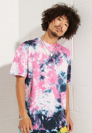 UNISEX TIE DYE - Print T-shirt - fuchsia/deep navy