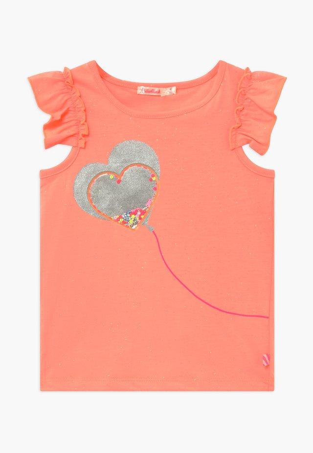 T-shirts med print - peach