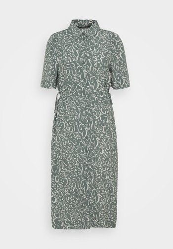VMLIVA CALF SHIRTDRESS - Shirt dress - laurel wreath/liva