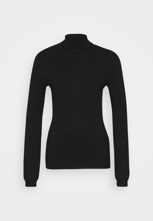 BASIC- TURTLE NECK - Strikkegenser - black