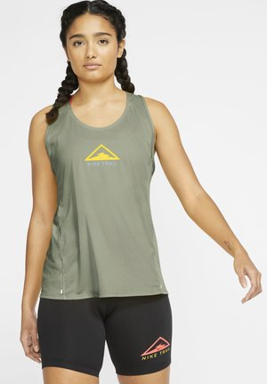 CITY SLEEK TANK TRAIL - Sports shirt - stone/psychic blue