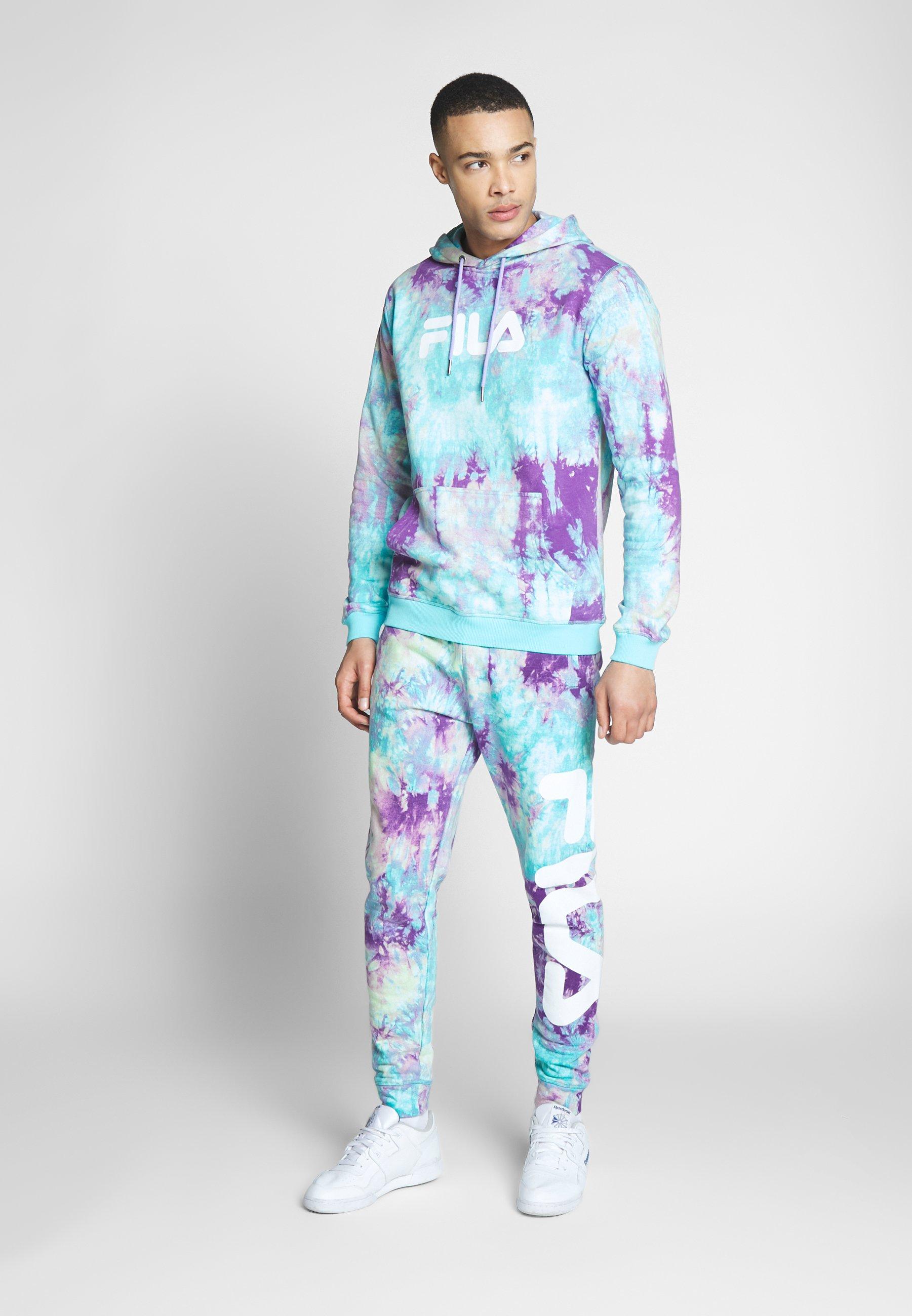 Fila PURE AOP - Pantalon de survêtement - lilac batik allover