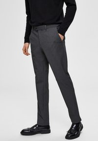 Selected Homme - SLHSLIM-CARLO FLEX PANTS - Pantalones - grey melange - 0