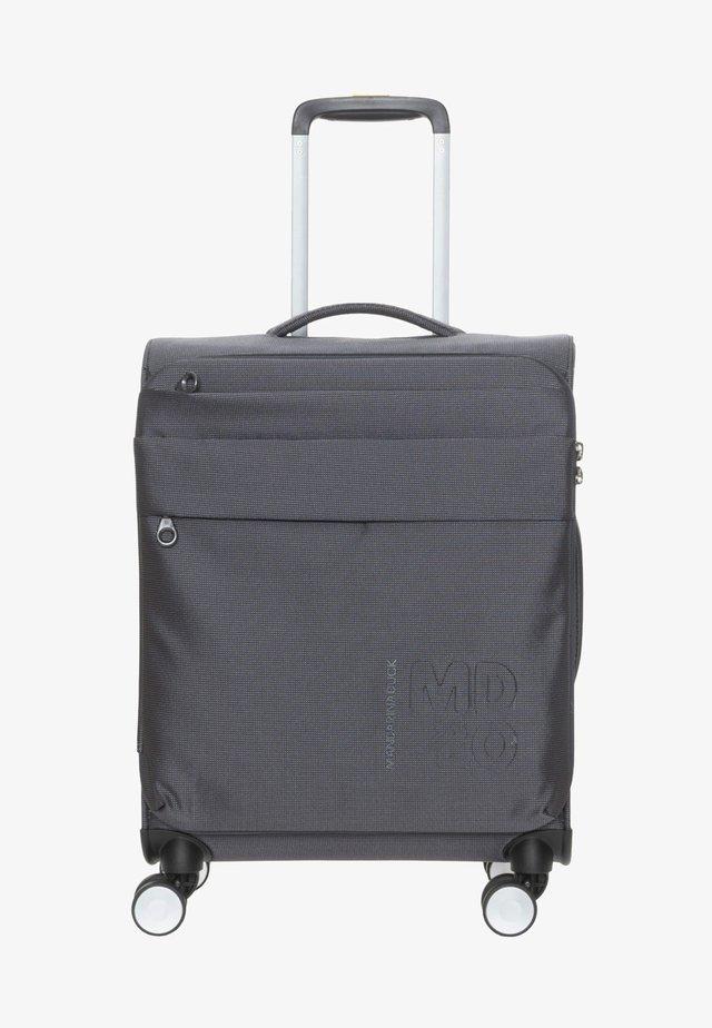 Wheeled suitcase - grey denim