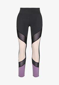 7/8 COLOURBLOCK  LEGGING - Pantalón 3/4 de deporte - black