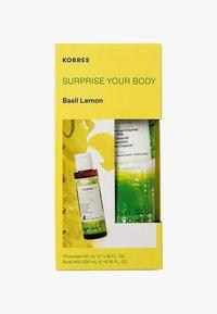 Korres - BASIL LEMON SURPRISE YOUR BODY SET - Bath and body set - - - 0