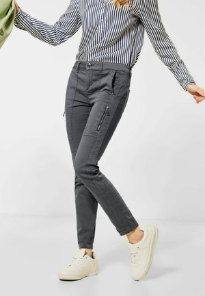 MIT NIETEN - Trousers - grau