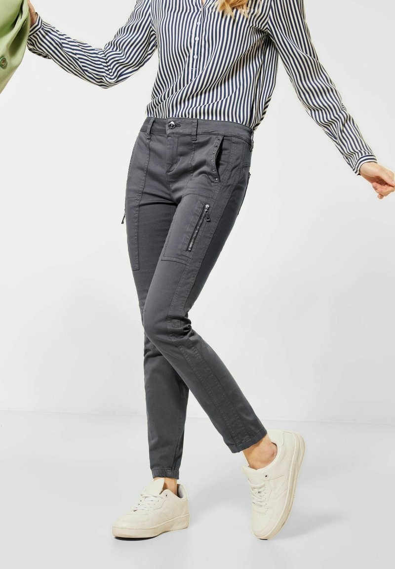 Street One - MIT NIETEN - Trousers - grau
