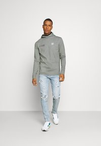 11 DEGREES - BLOCK HOODIE - Hoodie - grey marl - 1