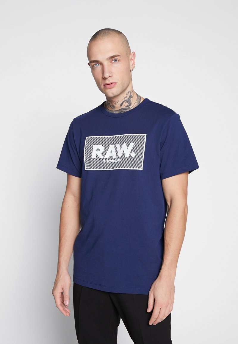 G-Star - BOXED GR - Camiseta estampada - imperial blue