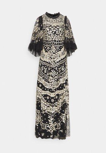 ANAÏS SEQUIN GOWN - Společenské šaty - graphite