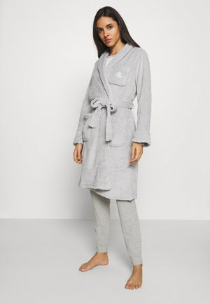 SHORT ROBE - Dressing gown - grey