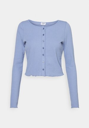 CORI CROP BUTTON THROUGH - Cardigan - vintage blue