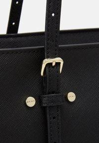 DKNY - BO TOTE SAFFIANO - Handbag - black/gold-coloured - 4