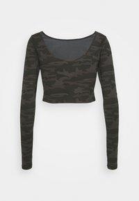 SQUATWOLF - WARRIOR CROP TEE - Long sleeved top - black - 1