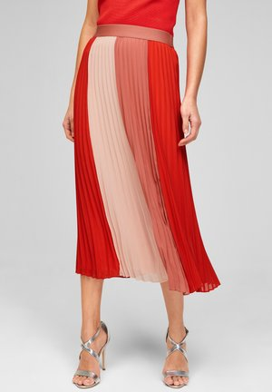 A-line skirt - colourblock red