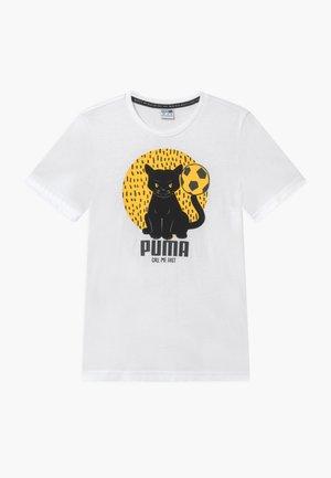 ANIMALS TEE - Camiseta estampada - white