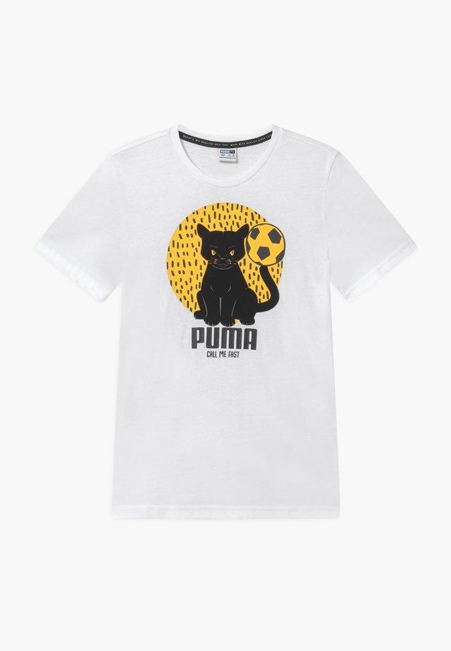 ANIMALS TEE - T-shirt z nadrukiem - white
