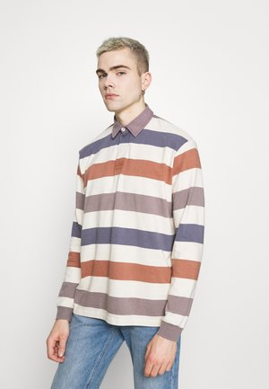 STRIPE RUGBY - Long sleeved top - stone