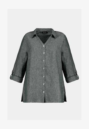 Leinen - Button-down blouse - bleu marine chiné