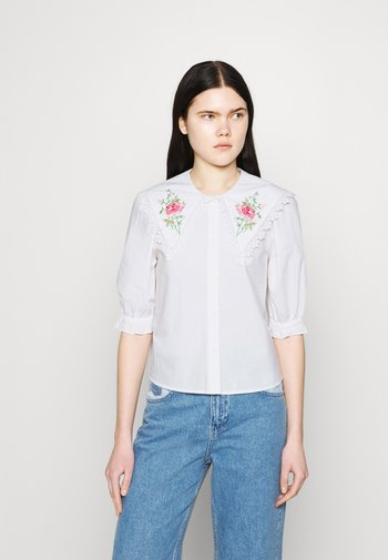BLOUSE - Button-down blouse - white light