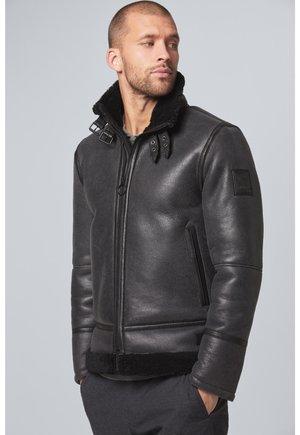 S.C. NEIL - LEDERJACKE - Leather jacket - schwarz