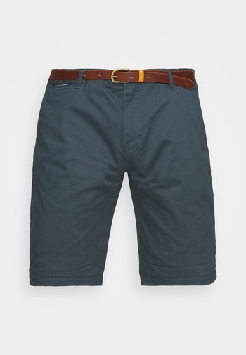 CHINO WITH BELT - Shorts - steel