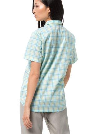 LITTLE LAKE - Button-down blouse - powder blue checks