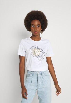 ONLMYSTIC LIFE - T-shirt imprimé - bright white